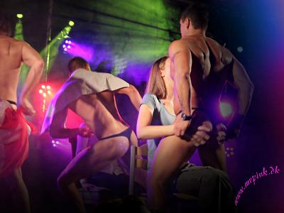 Mandlige striptease artister trykker den af!